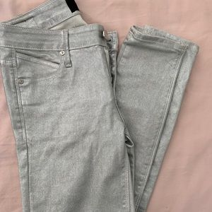 R + A Jeans - Silver (with a slight sparkle) jeans!